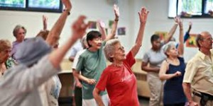 elderly adults exercising